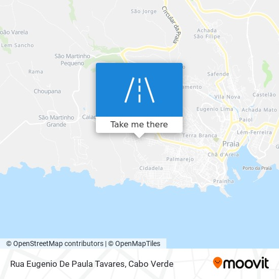 Rua Eugenio De Paula Tavares mapa