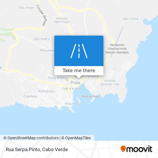 Rua Serpa Pinto mapa