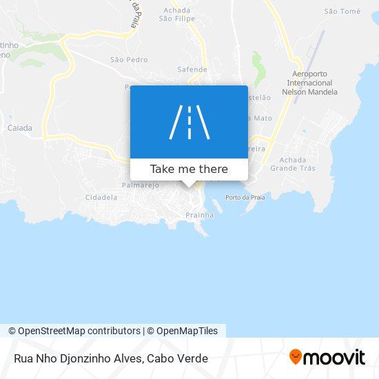 Rua Nho Djonzinho Alves mapa