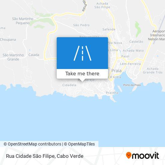 Rua Cidade São Filipe mapa