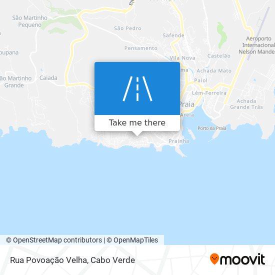 Rua Povoação Velha mapa