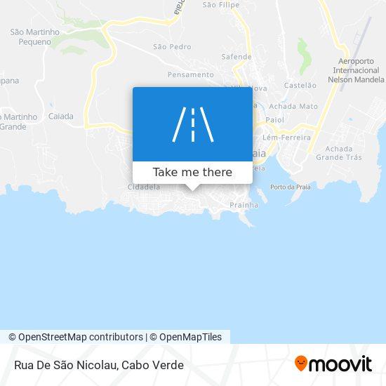 Rua De São Nicolau mapa