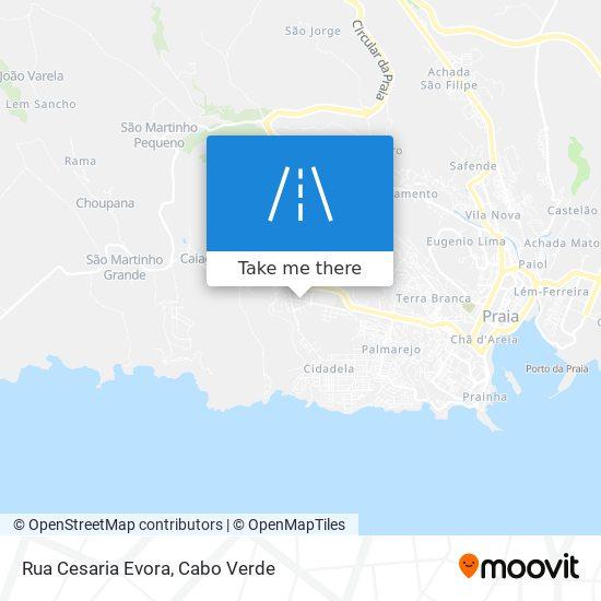 Rua Cesaria Evora mapa