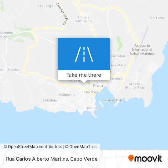 Rua Carlos Alberto Martins mapa