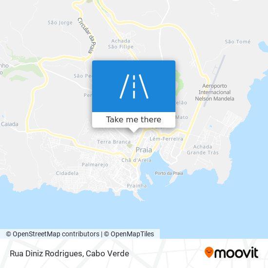 Rua Diniz Rodrigues mapa