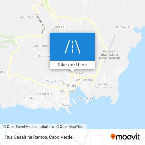 Rua Cesaltina Ramos mapa