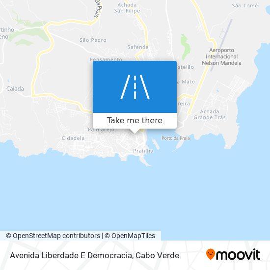 Avenida Liberdade E Democracia mapa