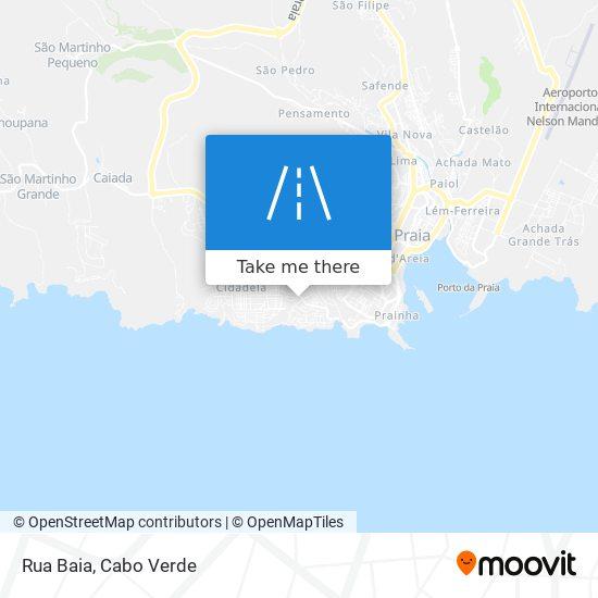Rua Baia mapa