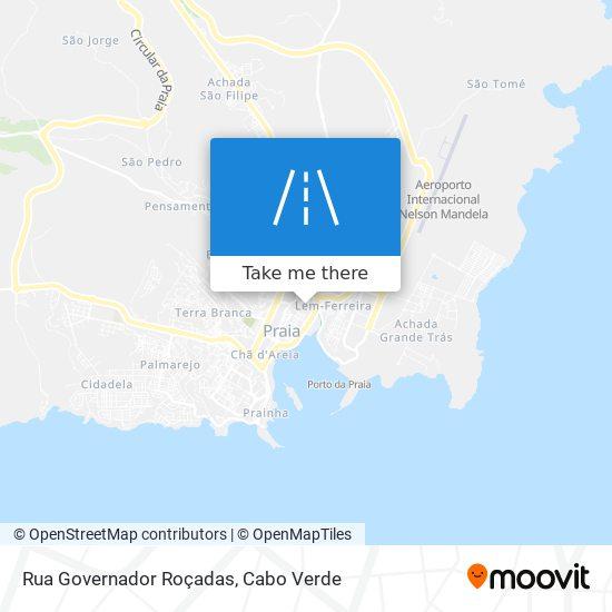 Rua Governador Roçadas mapa