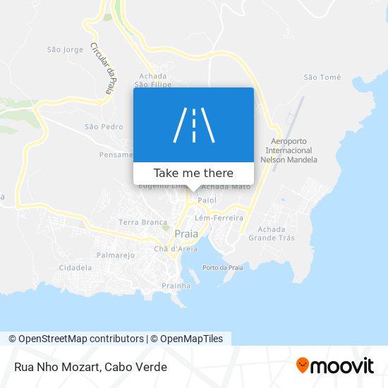 Rua Nho Mozart mapa