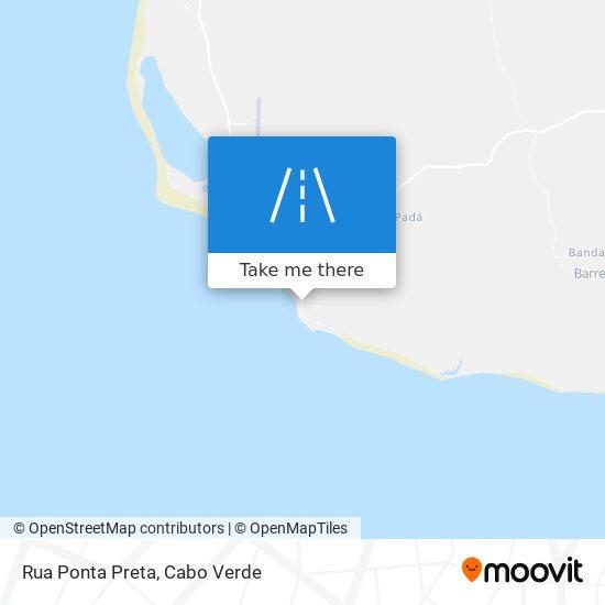Rua Ponta Preta mapa