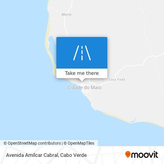 Avenida Amílcar Cabral mapa
