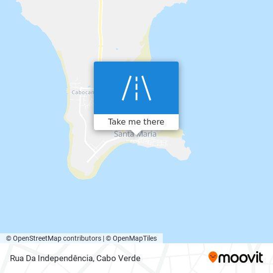 Rua Da Independência mapa