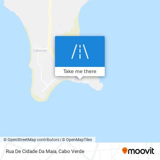 Rua De Cidade Da Maia mapa