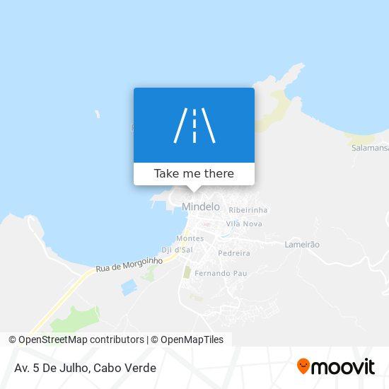 Av. 5 De Julho mapa