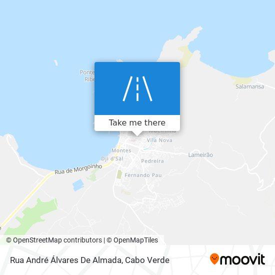 Rua André Álvares De Almada mapa