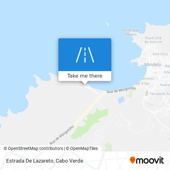 Estrada De Lazareto mapa