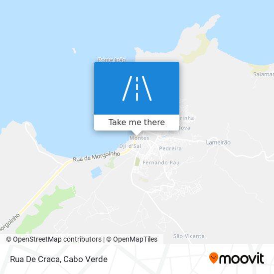 Rua De Craca mapa