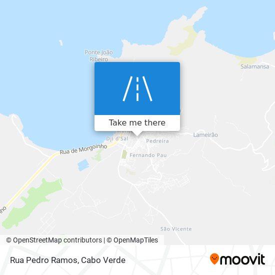 Rua Pedro Ramos mapa