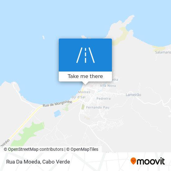 Rua Da Moeda mapa