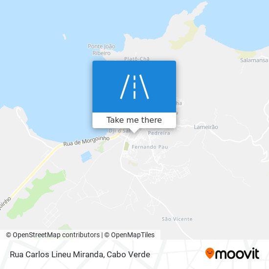 Rua Carlos Lineu Miranda mapa