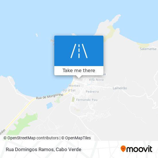 Rua Domingos Ramos mapa