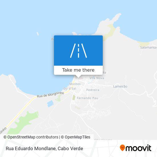 Rua Eduardo Mondlane mapa