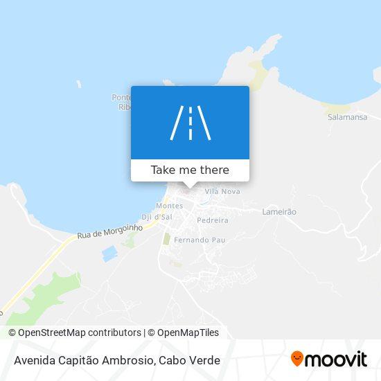 Avenida Capitão Ambrosio mapa
