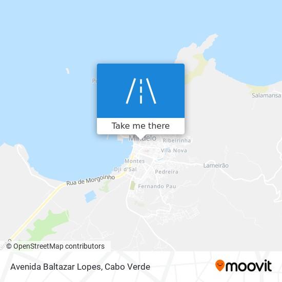 Avenida Baltazar Lopes mapa