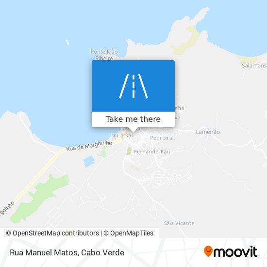 Rua Manuel Matos mapa
