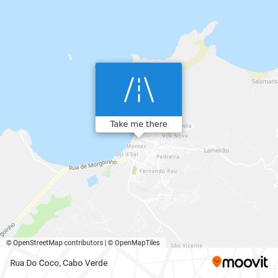 Rua Do Coco mapa