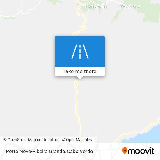 Porto Novo-Ribeira Grande mapa