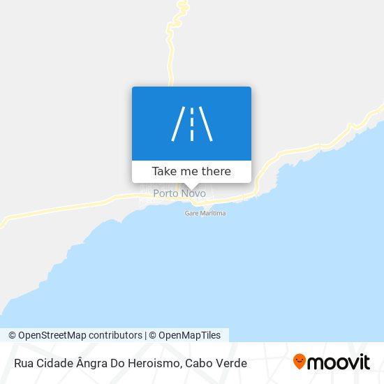 Rua Cidade Ângra Do Heroismo mapa