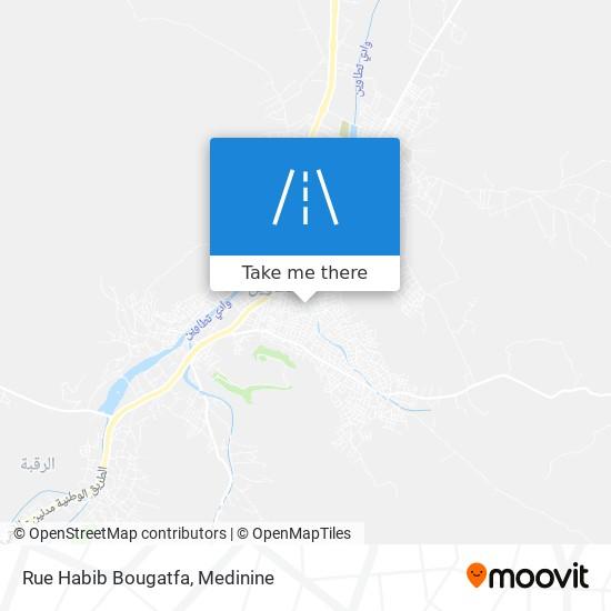 Rue Habib Bougatfa plan