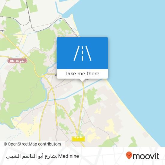شارع أبو القاسم الشيبي plan