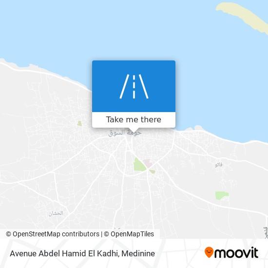 Avenue Abdel Hamid El Kadhi plan