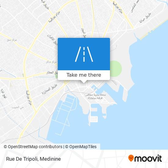 Rue De Tripoli plan