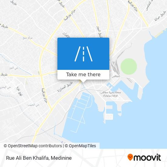 Rue Ali Ben Khalifa plan