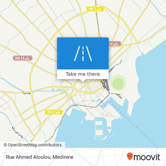 Rue Ahmed Aloulou plan