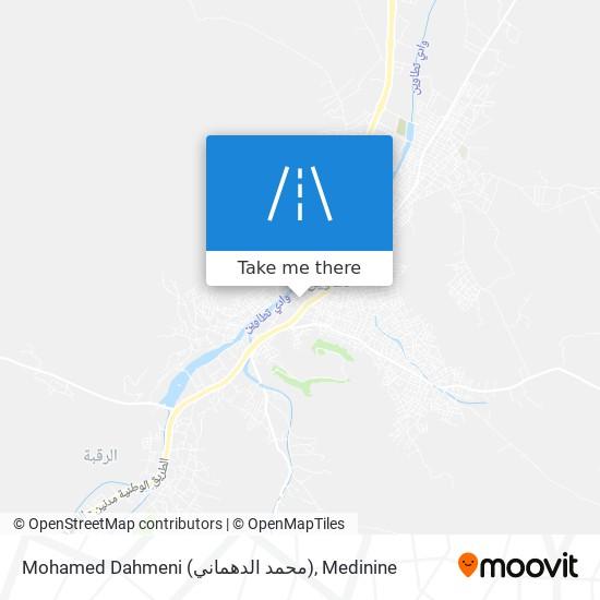 Mohamed Dahmeni (محمد الدهماني) plan