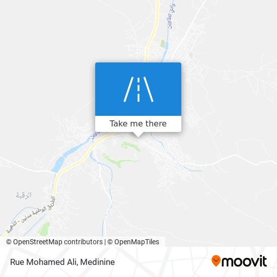 Rue Mohamed Ali plan