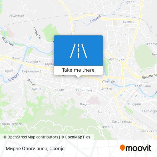 Мирче Оровчанец map