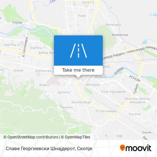 Славе Георгиевски Шнајдерот map