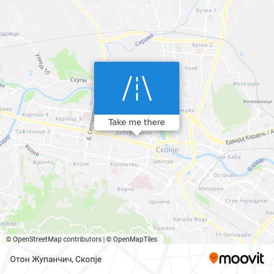 Отон Жупанчич map