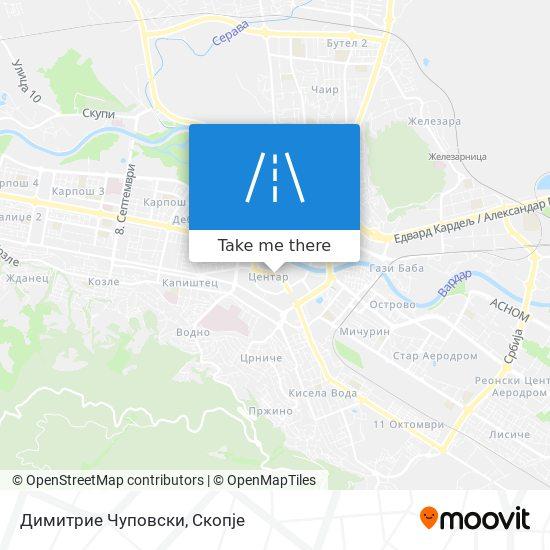 Димитрие Чуповски map