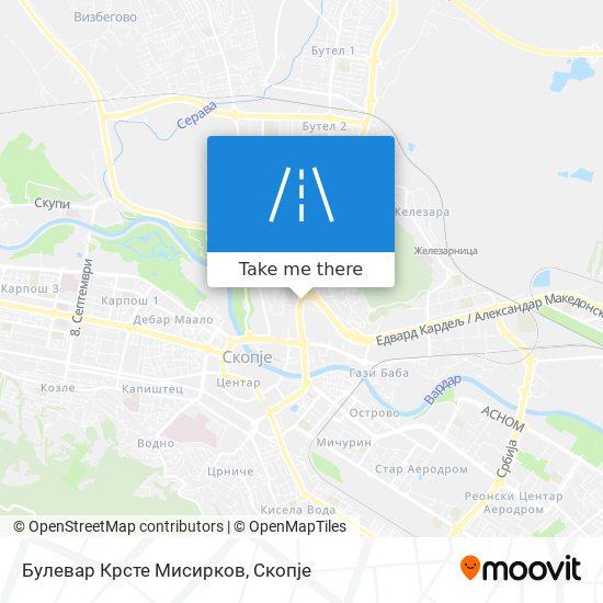 Булевар Крсте Мисирков map