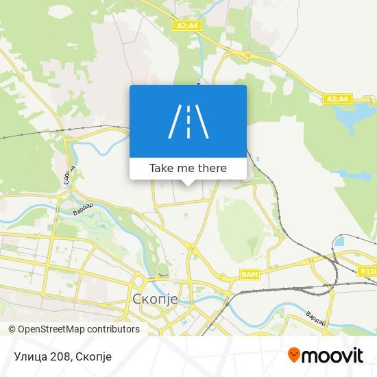 Улица 208 map