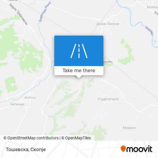 Тошевска map