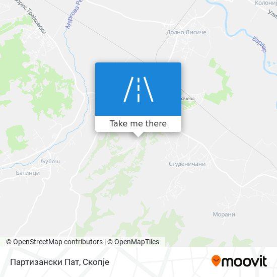Партизански Пат map