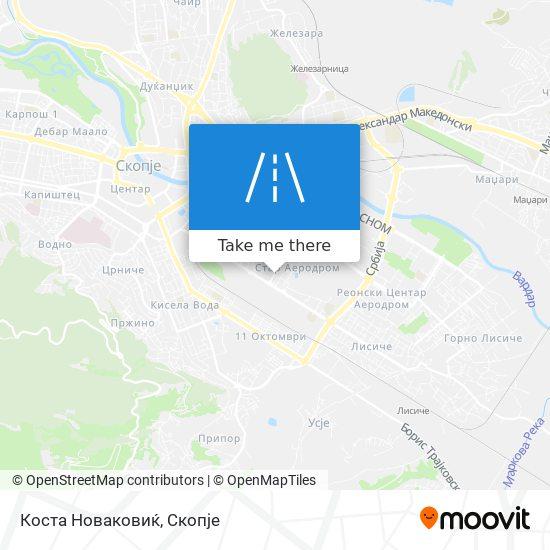 Коста Новаковиќ map